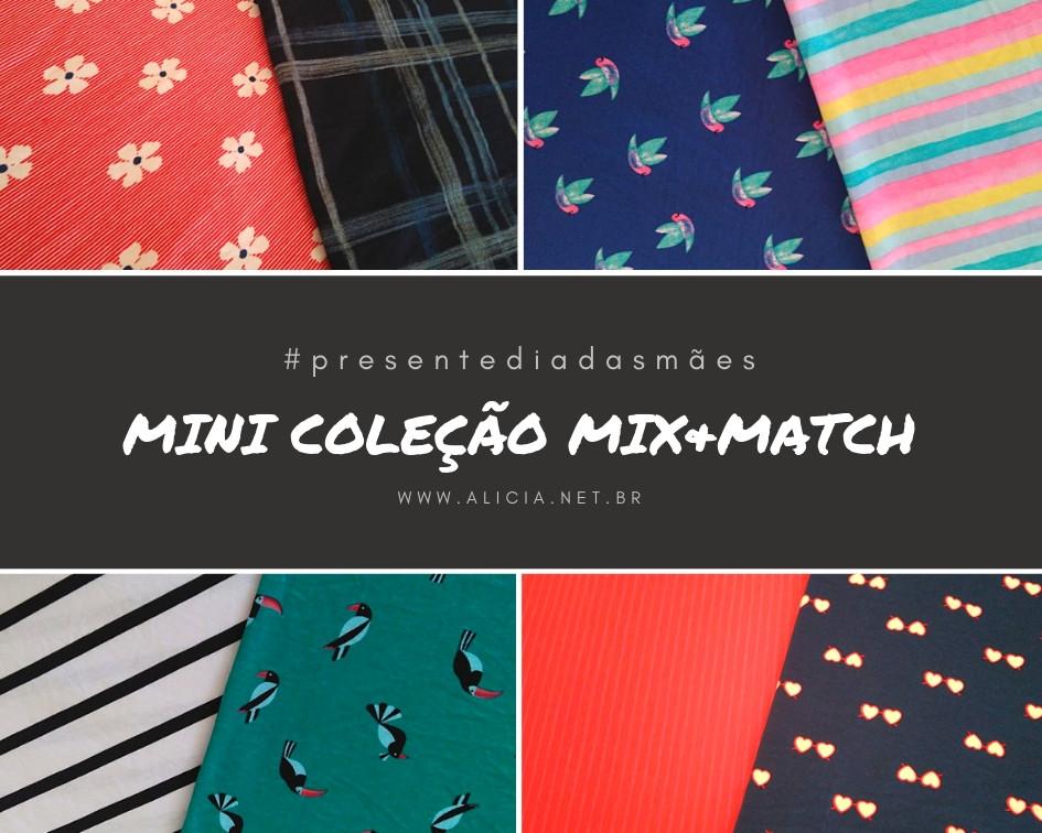 estampas disponíveis na mini coleção mix&match
