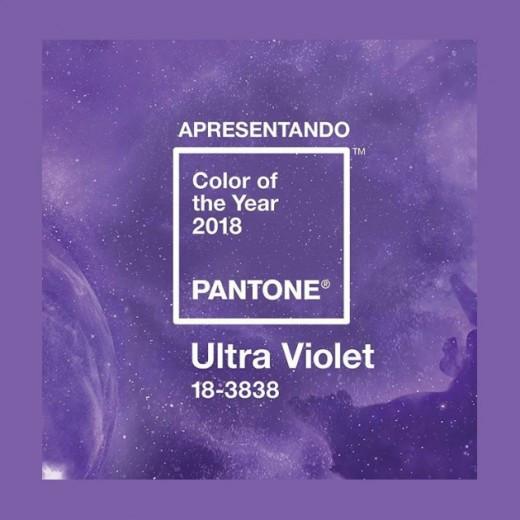 cor de 2018 Ultra Violet Pantone