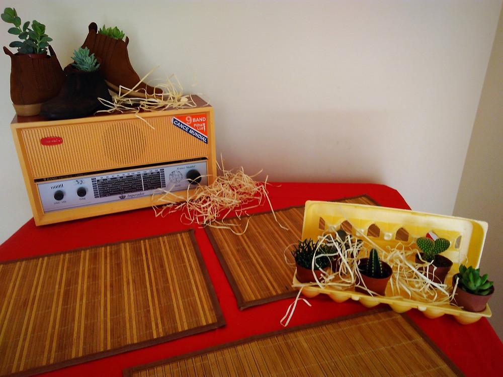 decoração festa infantil , fazendinha, animais, upcycling