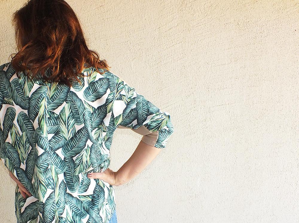 blusa costas folhagem