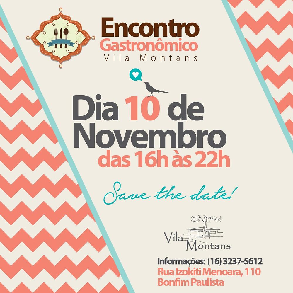 convite Encontro Gastronômico Vila Montans