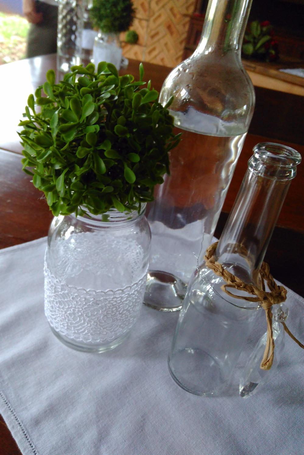 upcycle vidros e garrafas