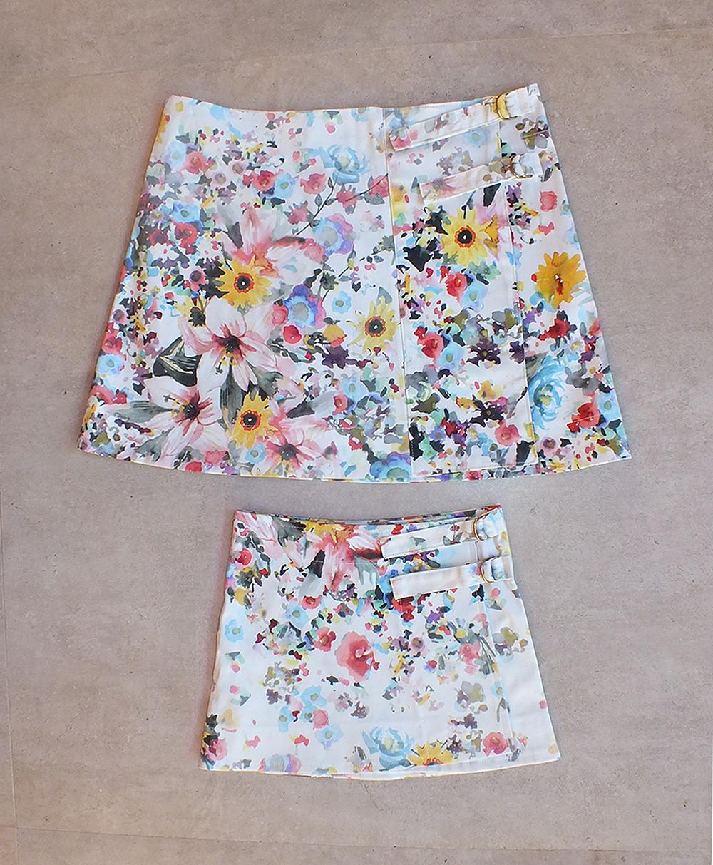 Saias estampa floral reguláveis tal mãe tal filha http://loja.alicia.net.br