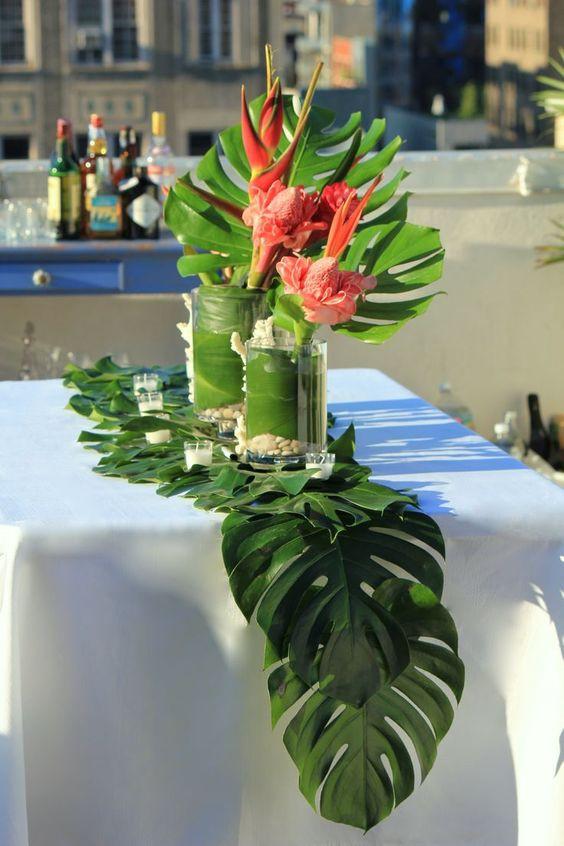 Costela de Adão decoração mesa