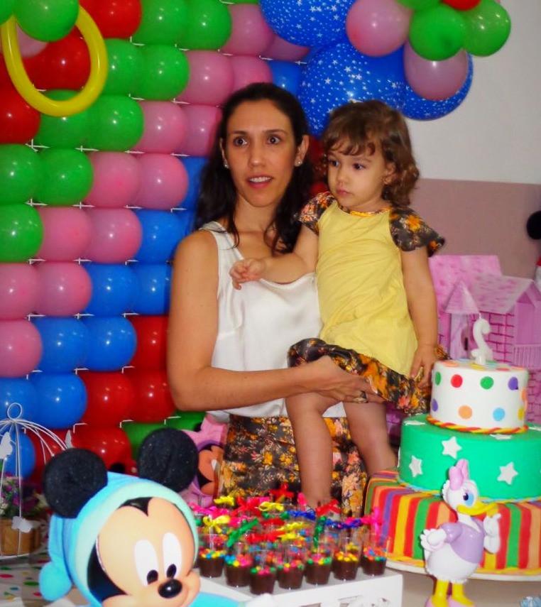 look mãe e filha aniversário