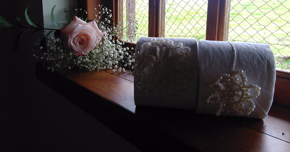 crochet papel higiênico