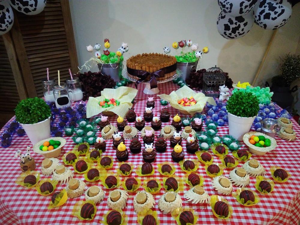 decoração festa infantil , fazendinha, animais