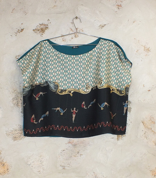 blusa trapezista