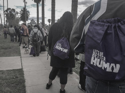 Backpacks for the needy.