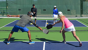 Pickleball - Mixed Doubles Action of Col