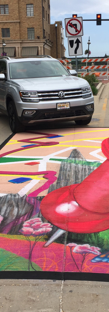 St. Charles, Illinois. Paint the Pavement