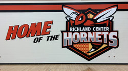 RCHS Gym Mascot Mural