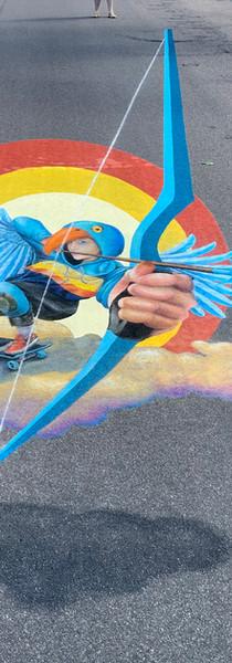 Tempera and Chalk Wahpeton, North Dakota  Borderline Chalkfest 2020