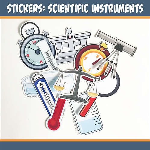 Stickers: Science Instruments