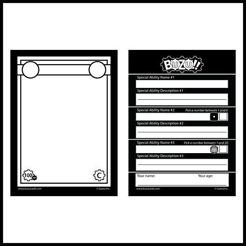 Blank Buzu Cards (5 pack)