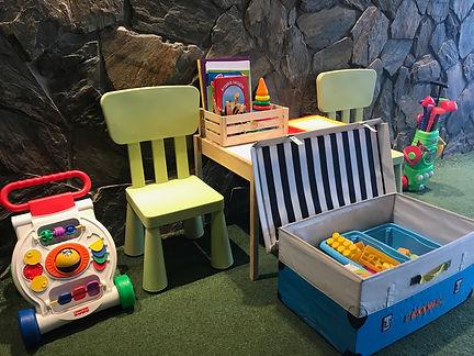 Restauracja dla rodzin, kącik dla dzieci