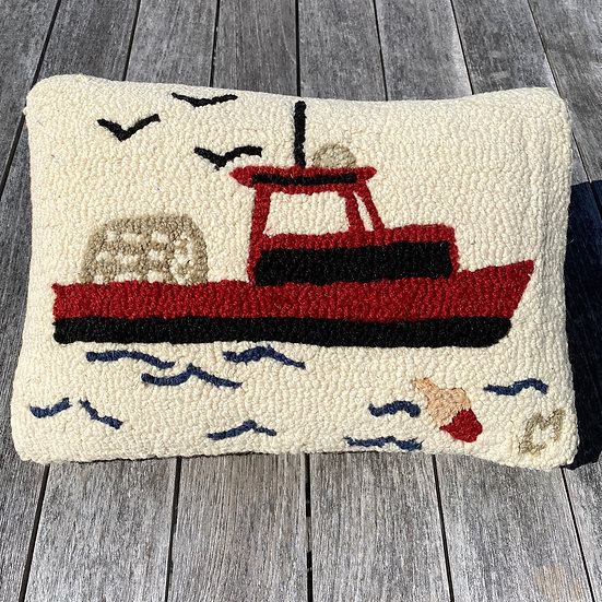 Fishing Boat Pillow