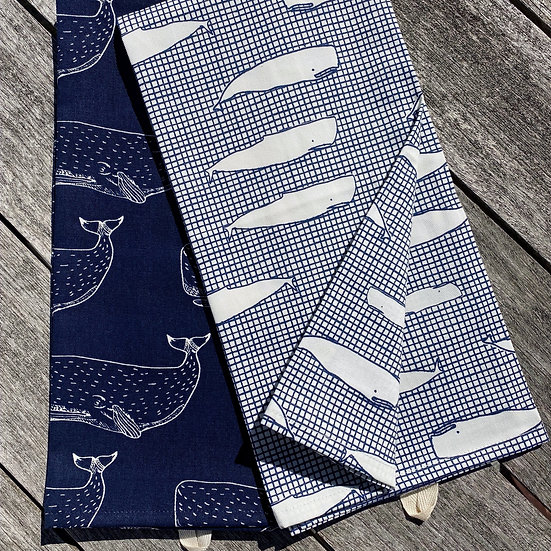 Whale Tea Towels