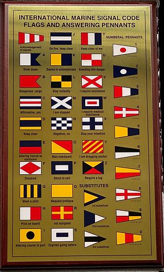 Signal Flag Plaque