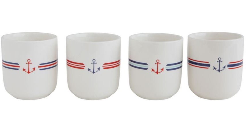 Anchor Stoneware Cup S/4