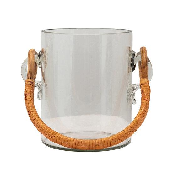 Ice Bucket w/ Bamboo Handle