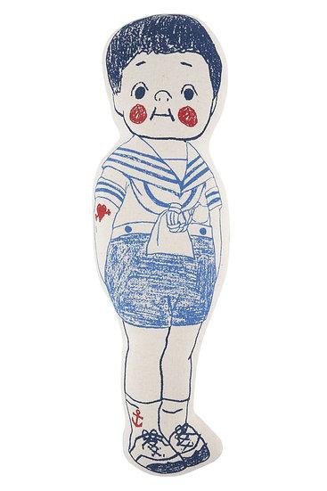 Sailor Boy & Ship Sketch Pillows