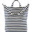 Thumbnail: Canvas Sailor Striped Tote Bag