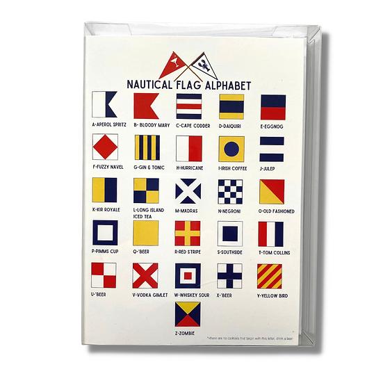 Nautical/Cocktail Flag Cards S/8