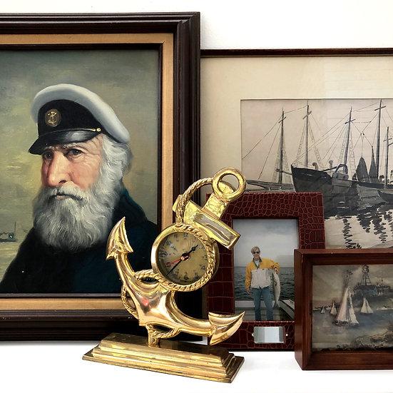 Brass Anchor Clock