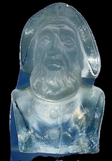 Glass Old Salt Bookend