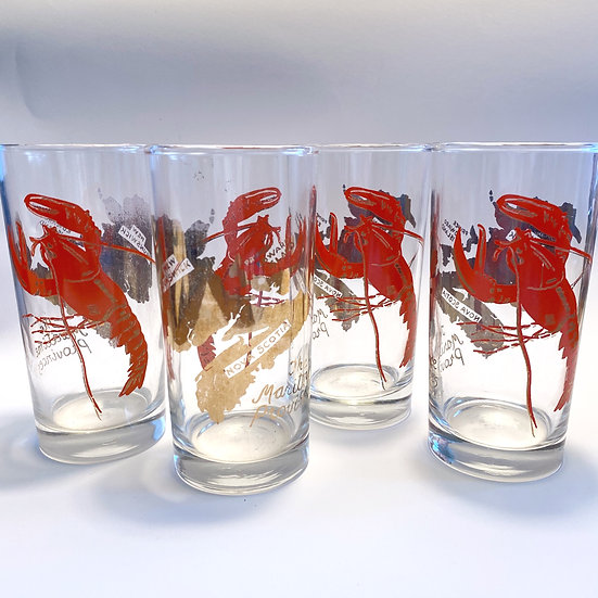 Lobster Souvenir Glasses S/4