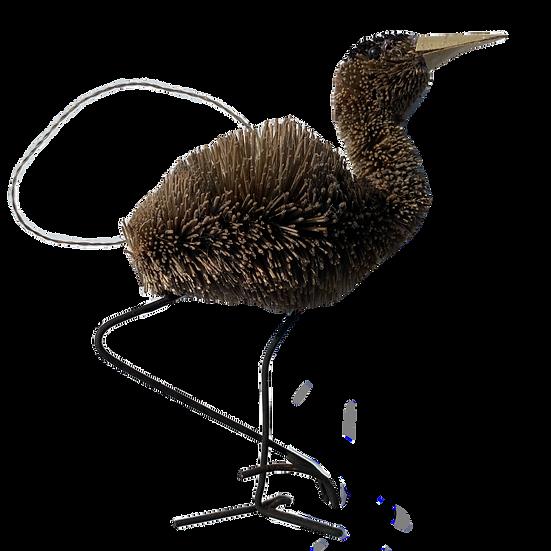 Heron Bottle Brush Ornament