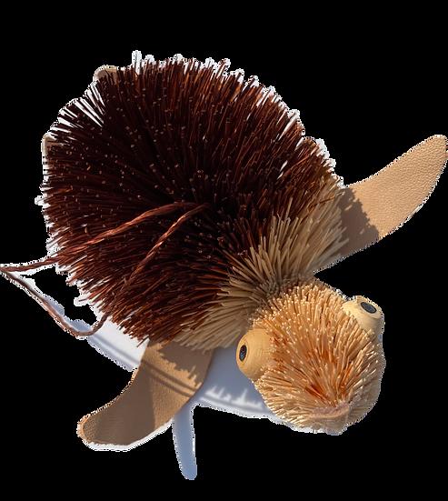 Turtle Bottle Brush Ornament