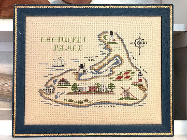 Vintage Nantucket Cross Stitch