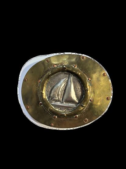 Vintage Sailboat Belt Buckle