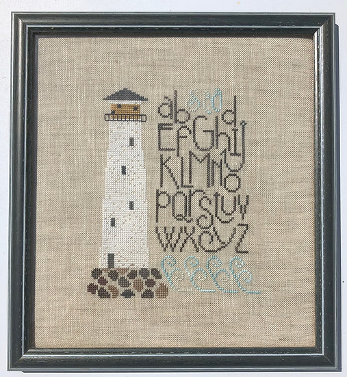 A B SEA Lighthouse Cross-stitch