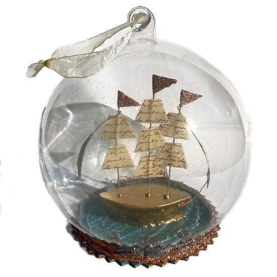 Sailboat in Globe Ornament