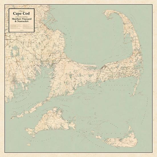 Cape Cod, Martha's Vineyard & Nantucket Print