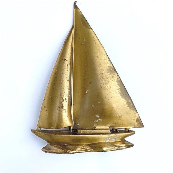 Vintage Brass Sailboat