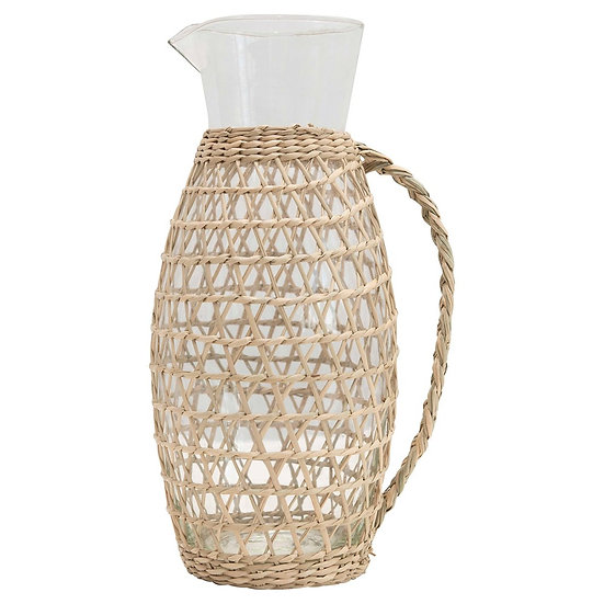 Seagrass Covered Pitcher