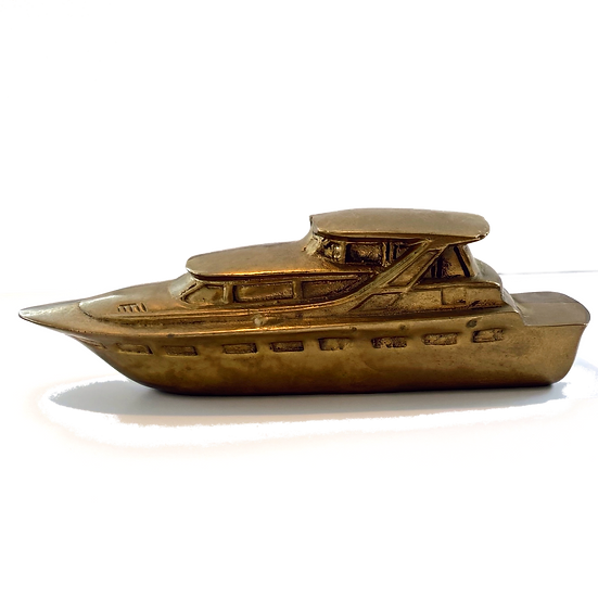 Vintage Brass Boat