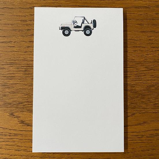 Vintage SUV Notepads
