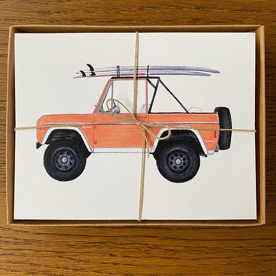 Vintage SUV Notecards S/12