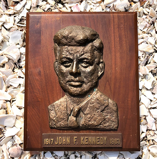 JFK Bronze Plaque