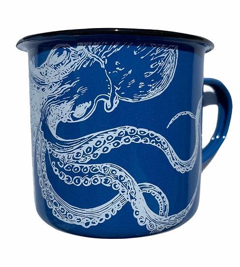 Octopus Enameled Mug