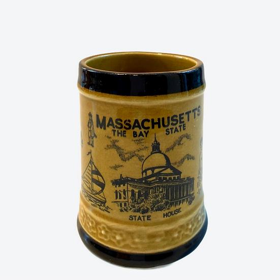 Vintage Massachusetts Souvenir Mug