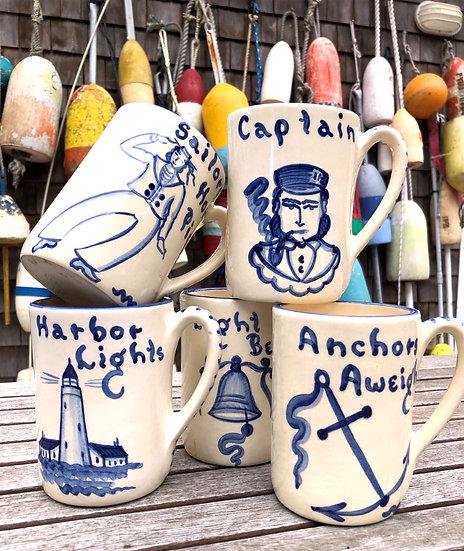 Dochester Pottery Nautical Mugs S/5