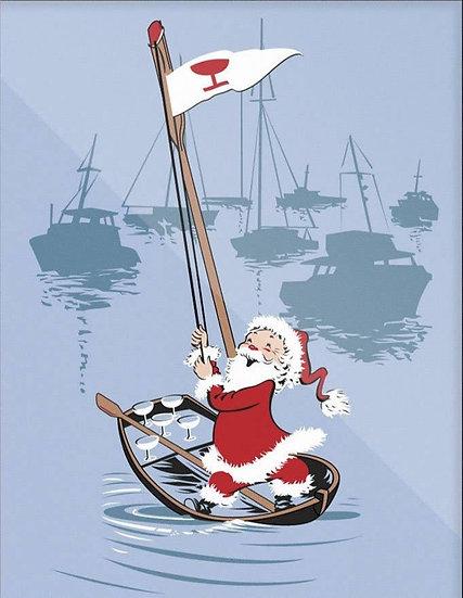 Sailing Santa Print
