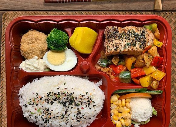 YOSHOKU BENTO SIGNATURE 5 (Salmon Teriyaki)
