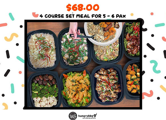 Saturday Daily Meal Package (5 - 6 Pax)